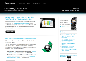 Blackberry Connection Newsletter